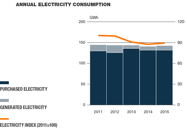 Annual electricity consumption