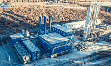 Biogas liquefaction plant in Norway