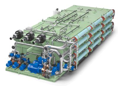 Illustration of the Wärtsilä Hamworthy Membrane BioReactor Systems
