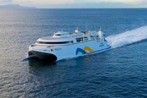 The world's fastest high speed ferry is powered by Wärtsilä Axial Waterjets