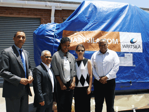 Wärtsilä donated a Wärtsilä 20 engine to Nelson Mandela Metropolitan University in South Africa.