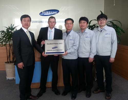 Wärtsilä receives 'Excellent Partner 2013' award from Samsung Heavy Industries