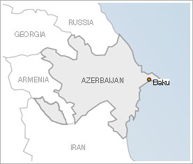 Map of Azerbaijan