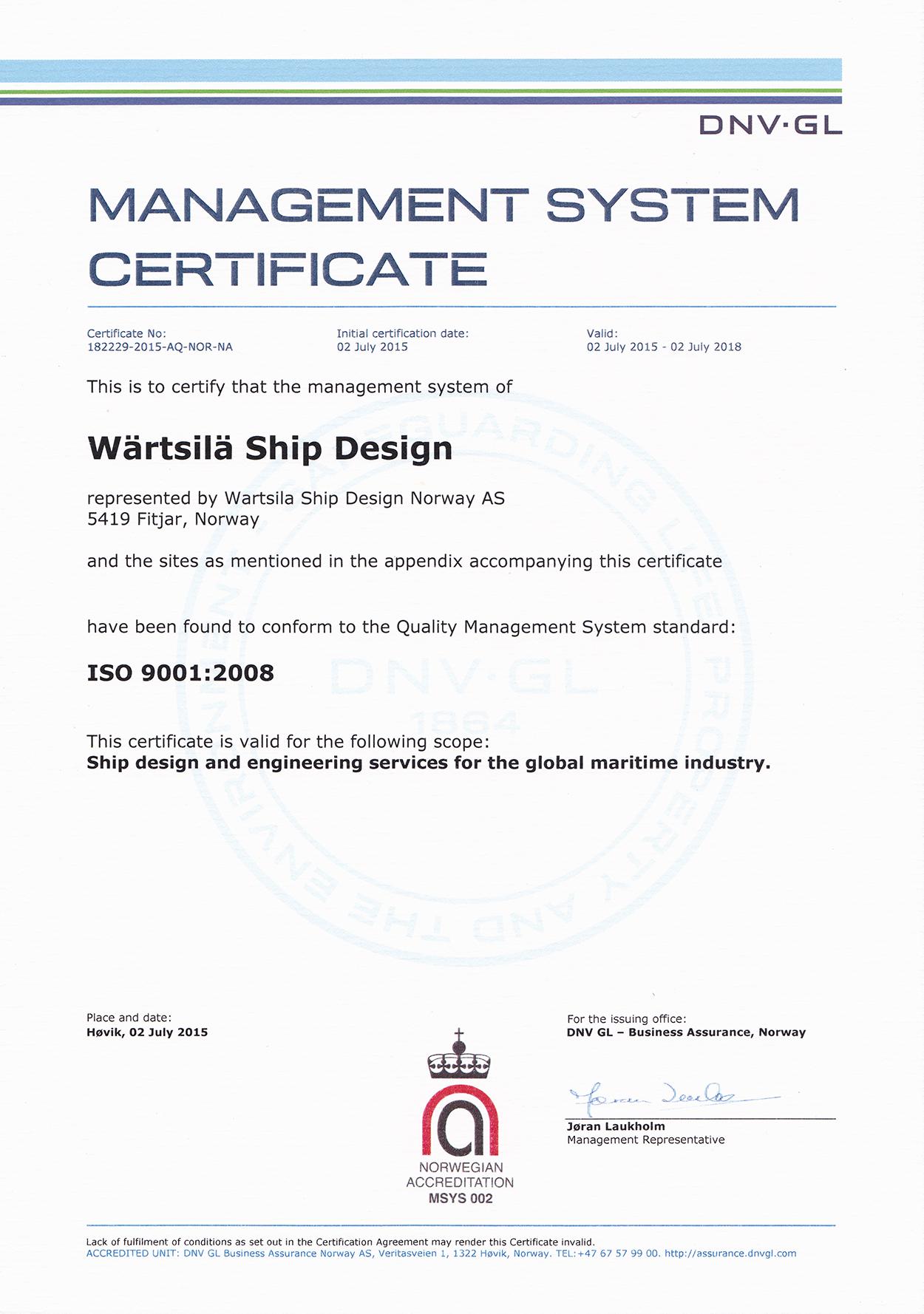 Hamworthy Polish Branch Office Wsd Iso Certificate Big