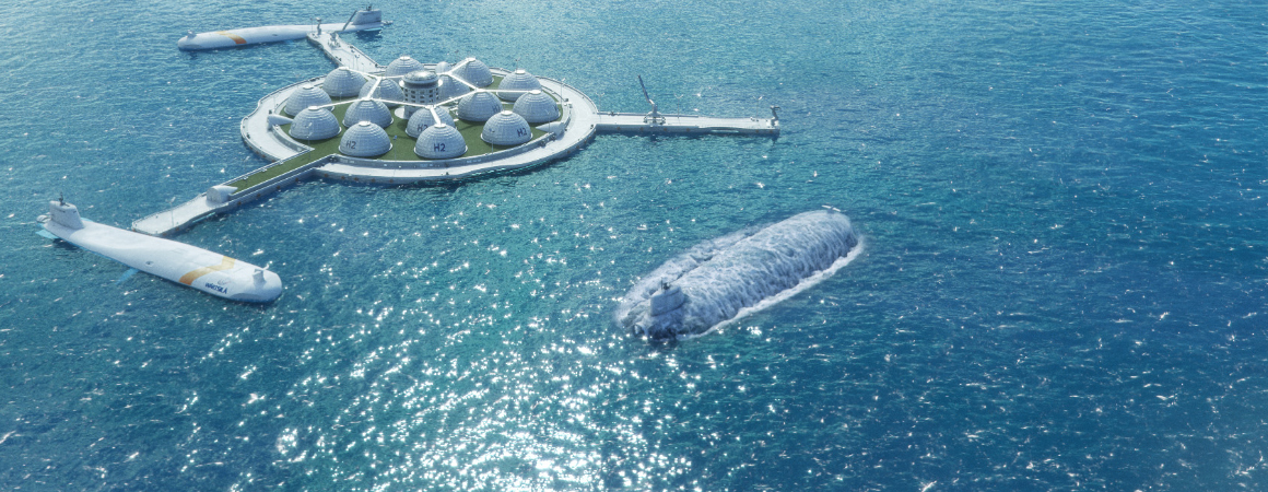 Future visions of shipping - Floating distribution hubs