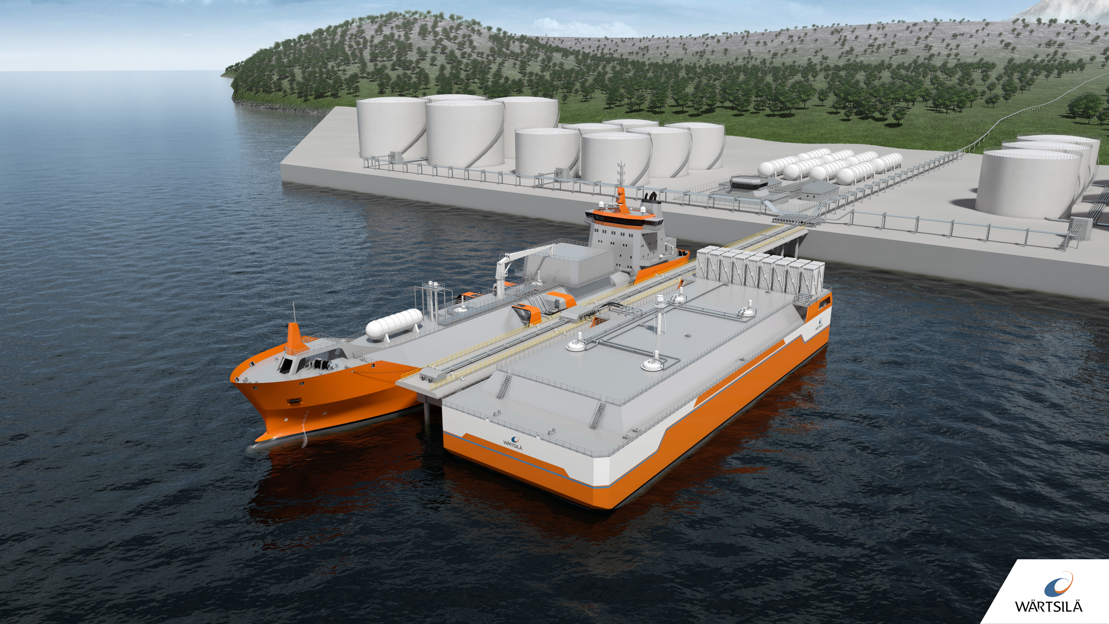 FSRB mooring at a jetty concept