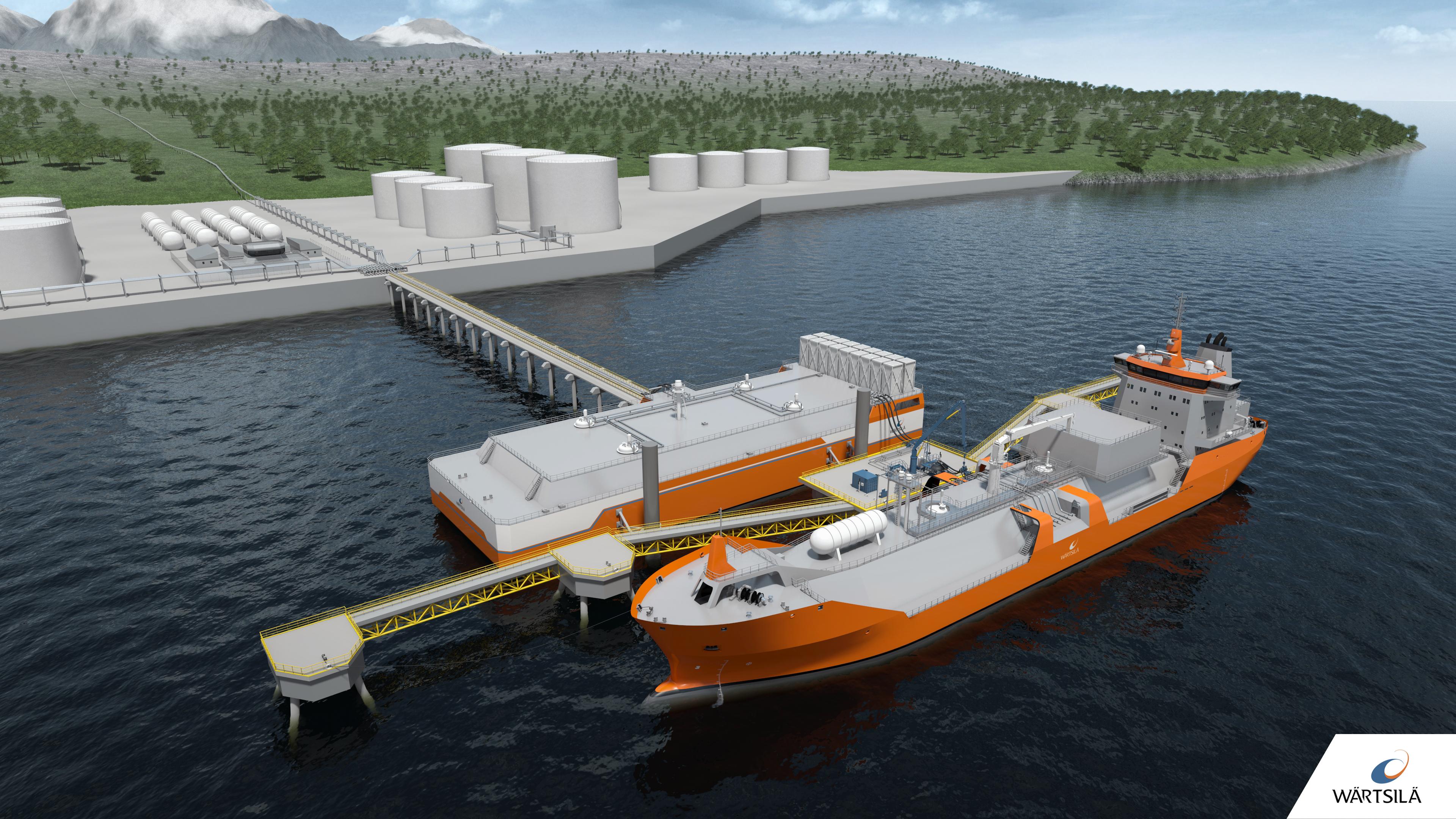 FSRB mooring at shore concept