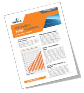 Wärtsilä's solar business Q&A