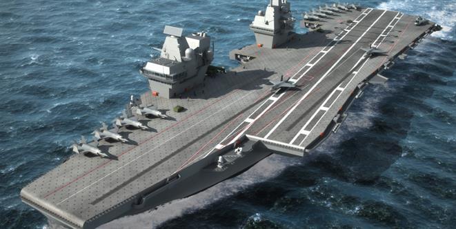 HMS Queen Elizabeth - THALES Copyright