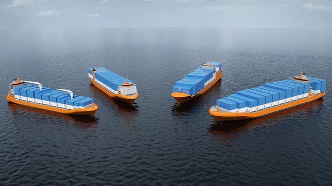 Merchant vessels - container feeders