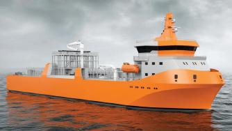 WSD59 6.5K, LNG bunkering vessel ship design