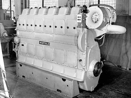Wartsila's first diesel engine