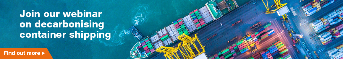decarbonising container shipping _1160 x 200