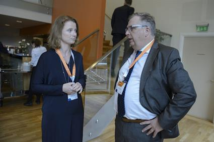 Hege Økland and Atle Hamar at Wärtsilä's Future Innovation Day in Norway.