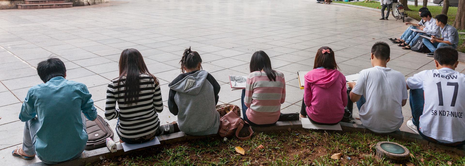 Schoolchildren in Vietnam