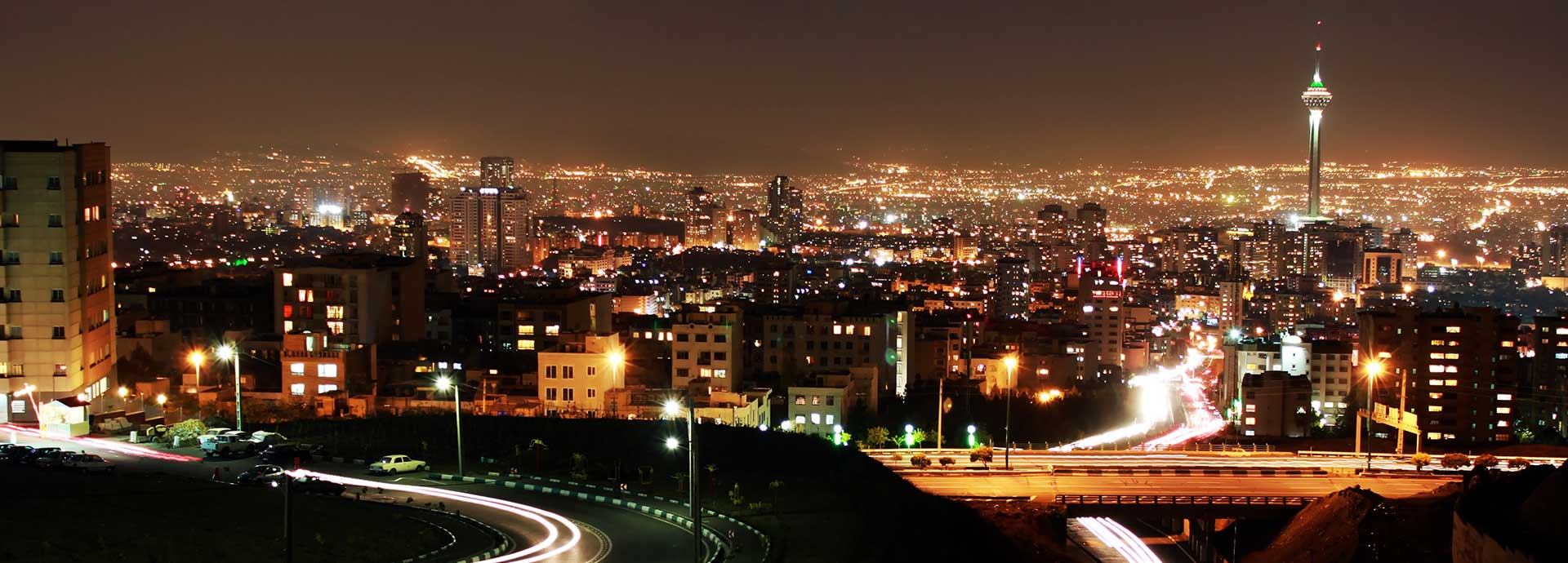 tehran skyline at night