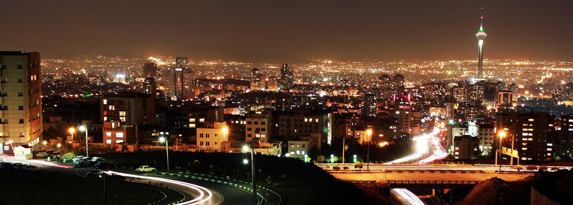 tehran skyline at night