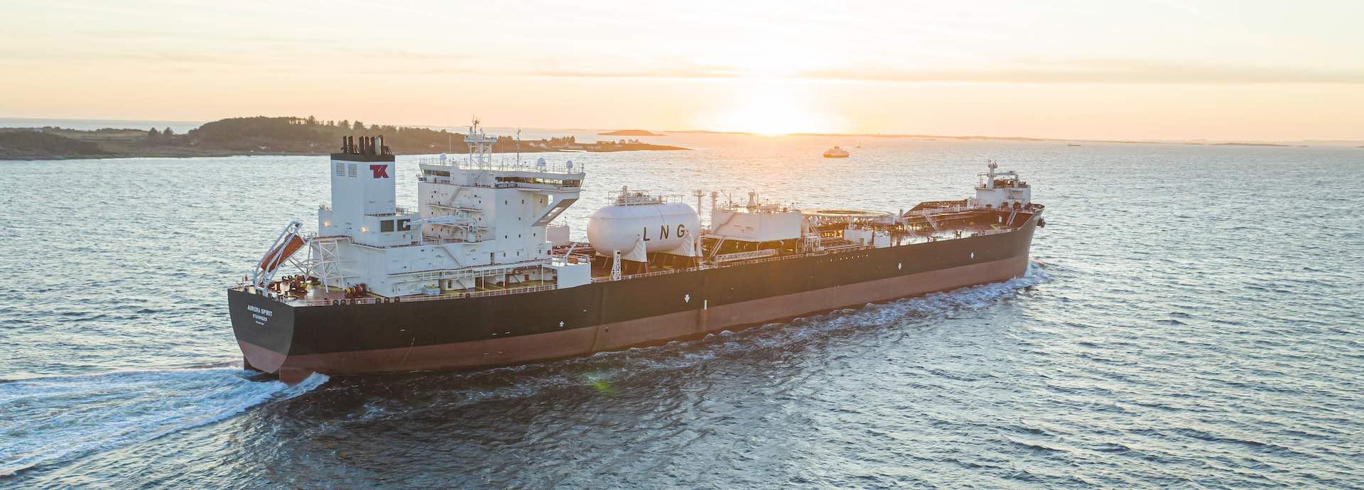 LNG tanker at sea