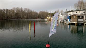 Project Baseline Station One, 4 levels of stratification, marked by a buoy with a flag