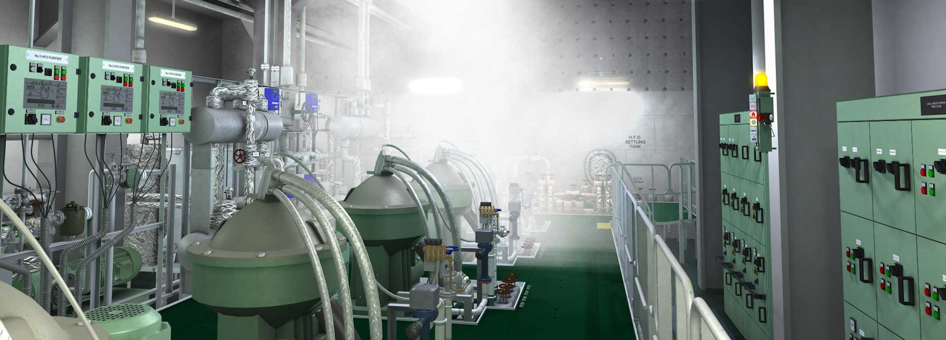 Water Mist Release in Purifier Room