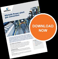 Wärtsilä power plant gas conversion