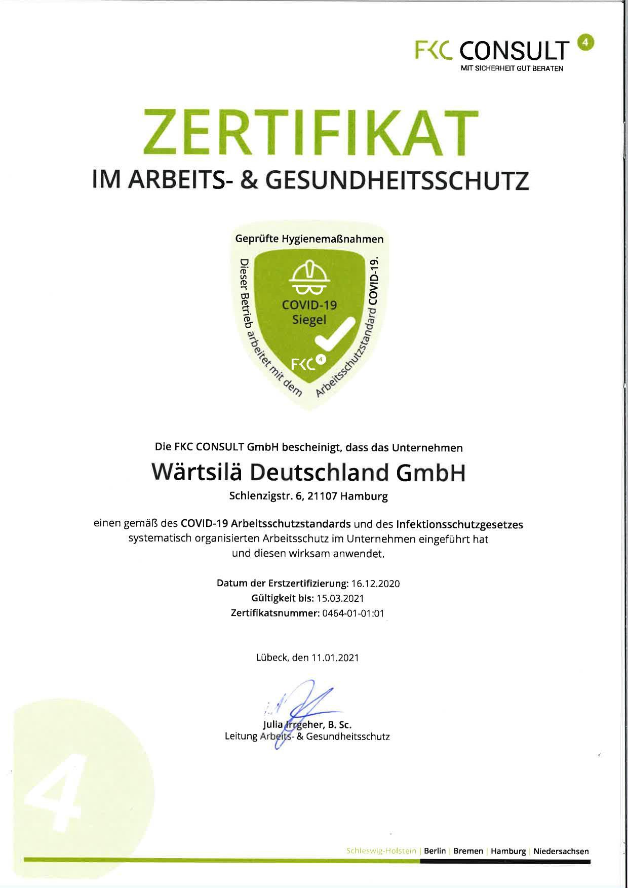WDE Zertifikat im Arbeits- und Gesundheitsschutz