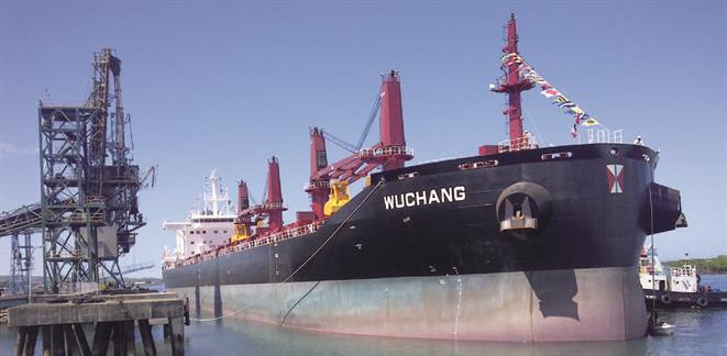 Handymax bulk carrier WUCHANG of B.Delta 37 type designed by Deltamarin