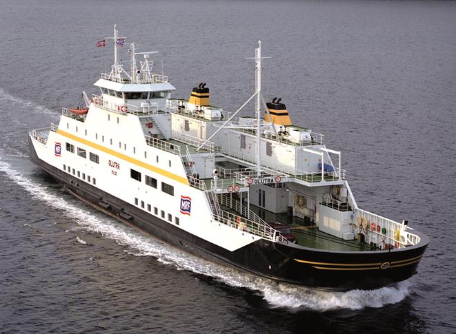 Natural gas-fuelled ferry GLUTRA