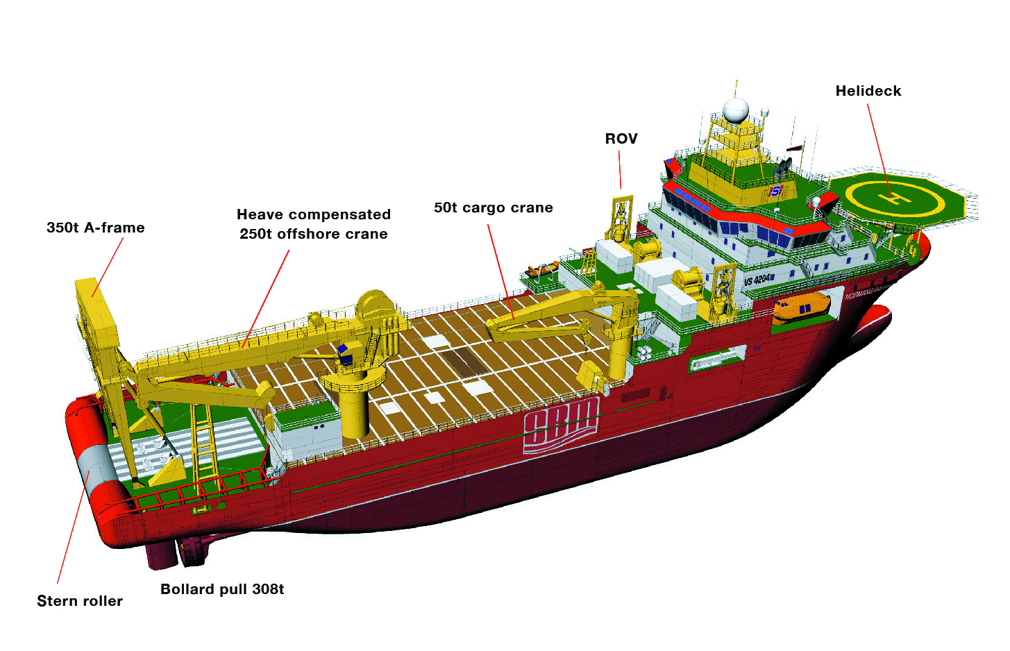 Offshore Construction and Anchor Handling Vessel NORMAND INSTALLER