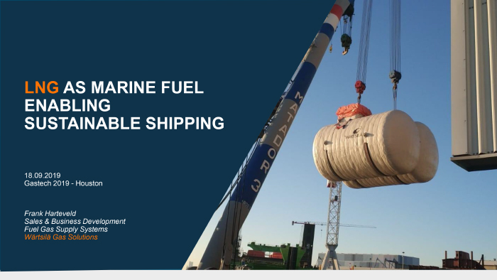 LNG as marine fuel presentation