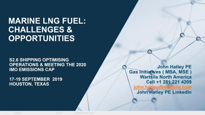 Marine LNG fuels – challenges and opportunities