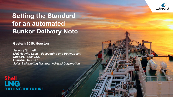 Setting the standard for an automated LNG bunkering delivery note