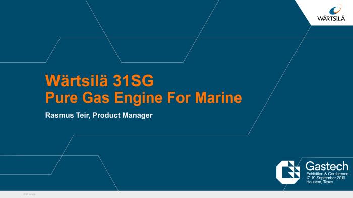 Wartsila 31SG presentation