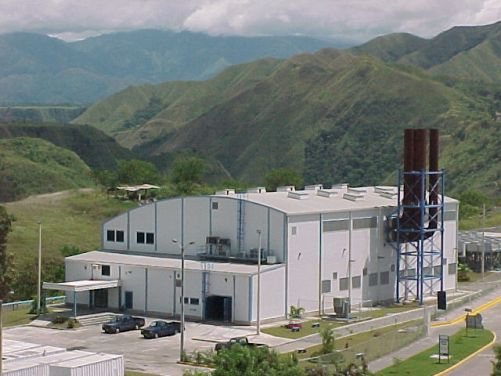 Caracolito power plant, located near Ibagué, a municipality in the department of Tolima in Colombia.
