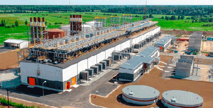 g's emergency reserve power plant with a capacity of 250 MW is fully automated and requires no on-site personnel.
