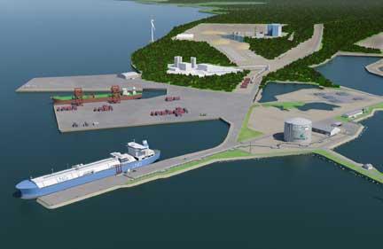 LNG-terminal in Tornio, Finland