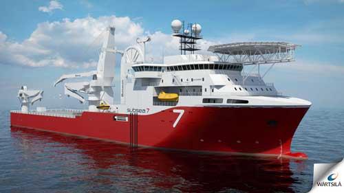 Subsea 7 heavy construction vessel designed by Wärtsilä