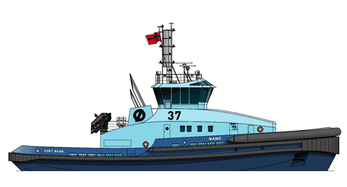 The new escort tugs contracted by Østensjø Rederi will feature a Wärtsilä solution including dual-fuel engines integrated with a customized gas storage and supply system. Image Robert Allan Ltd.