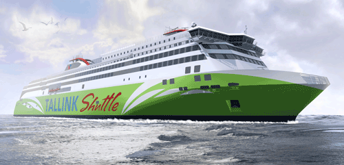 The new fast ropax ferry ordered by AS Tallink Grupp for its Tallinn – Helsinki route, will feature Wärtsilä 50DF dual-fuel engines running primarily on liquefied natural gas (LNG).