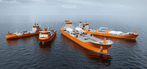 The new series of LNG Carrier ship designs consists of four vessel designs