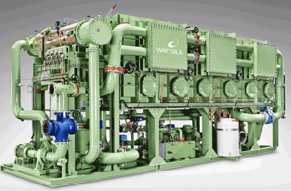 The Wärtsilä Serck Como fresh water generators produce the high quality fresh water needed onboard a cruise ship.