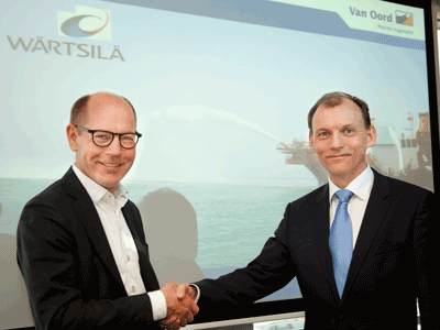 Wärtsilä signs three-year service agreement with Dutch dredging and marine contractor Van Oord