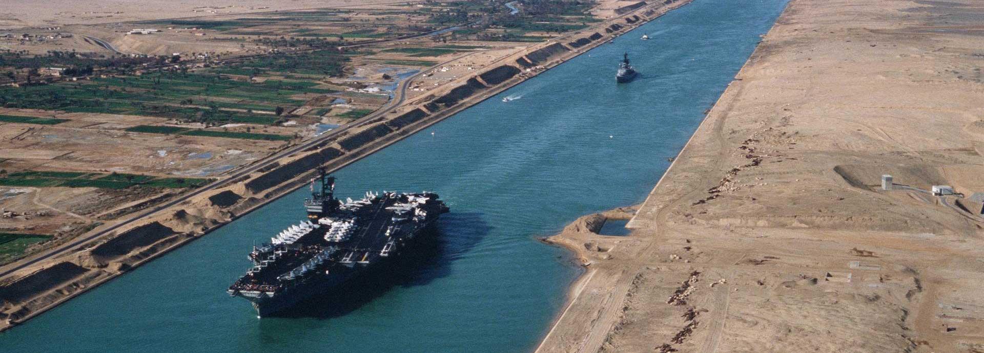 USS America in the Suez canal 1981