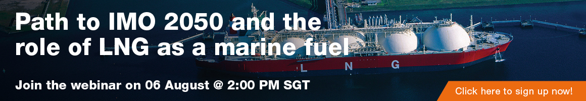 Sign up for the Path to IMO 2050 and the Role of  LNG as a  Marine Fuel webinar