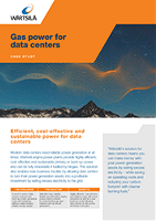 Gas power for data centers