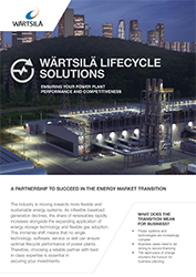 Wärtsilä Lifecycle Solutions Brochure