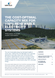 The cost-optimal capacity mix for 100% renewable electricity systems