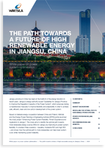 The path towards a future of high renewable energy in Jiangsu, China
