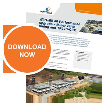 Wartsila 46 Performance upgrade – Miller valve timing and TPL76-C8X