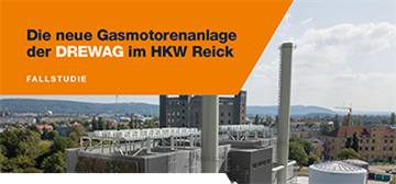 Die neue Gasmotorenanlage der DREWAG im HKW Reick